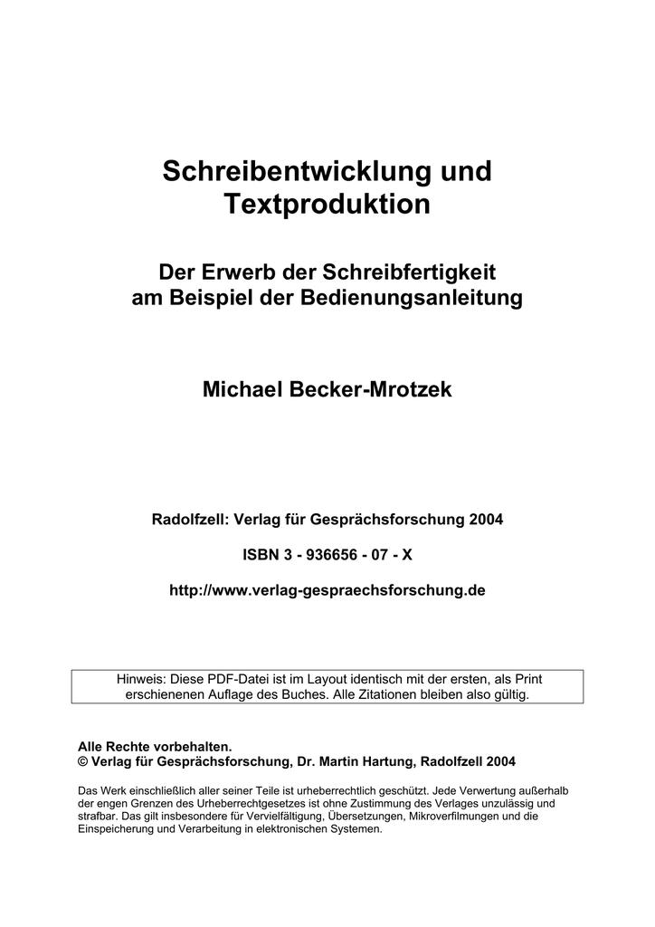 Verlag für Gesprächsforschung | manualzz.com