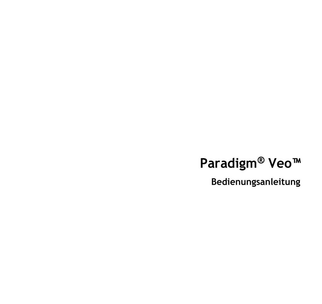Paradigm® Veo™ - Medtronic Diabetes | manualzz.com