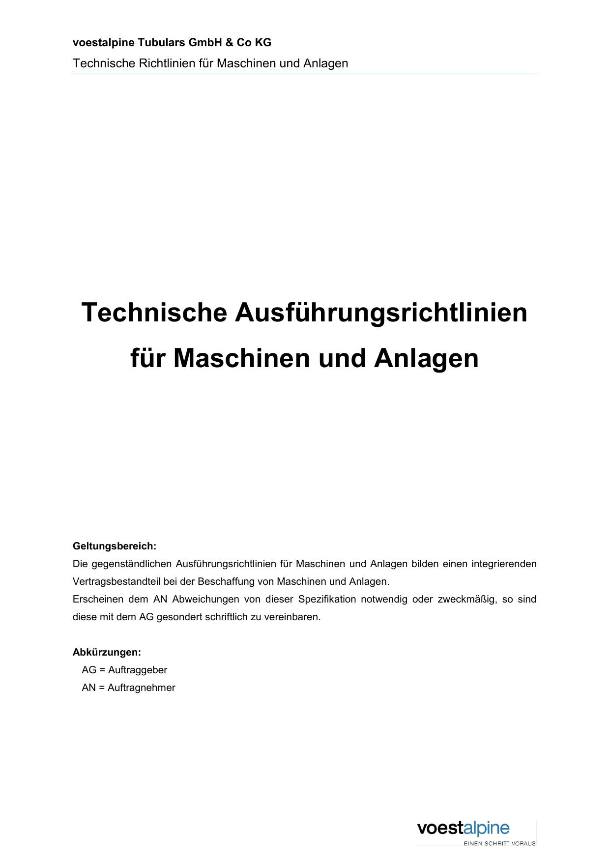 Technische Ausführungsrichtlinien für Maschinen und | manualzz com
