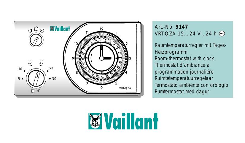 Thermostat Vaillant VRT-QZA Raumtemperaturregler