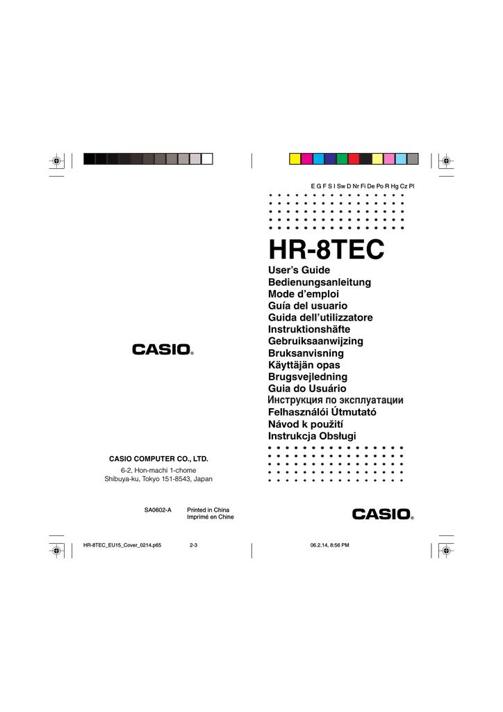 HR-8TEC - Voelkner | Manualzz