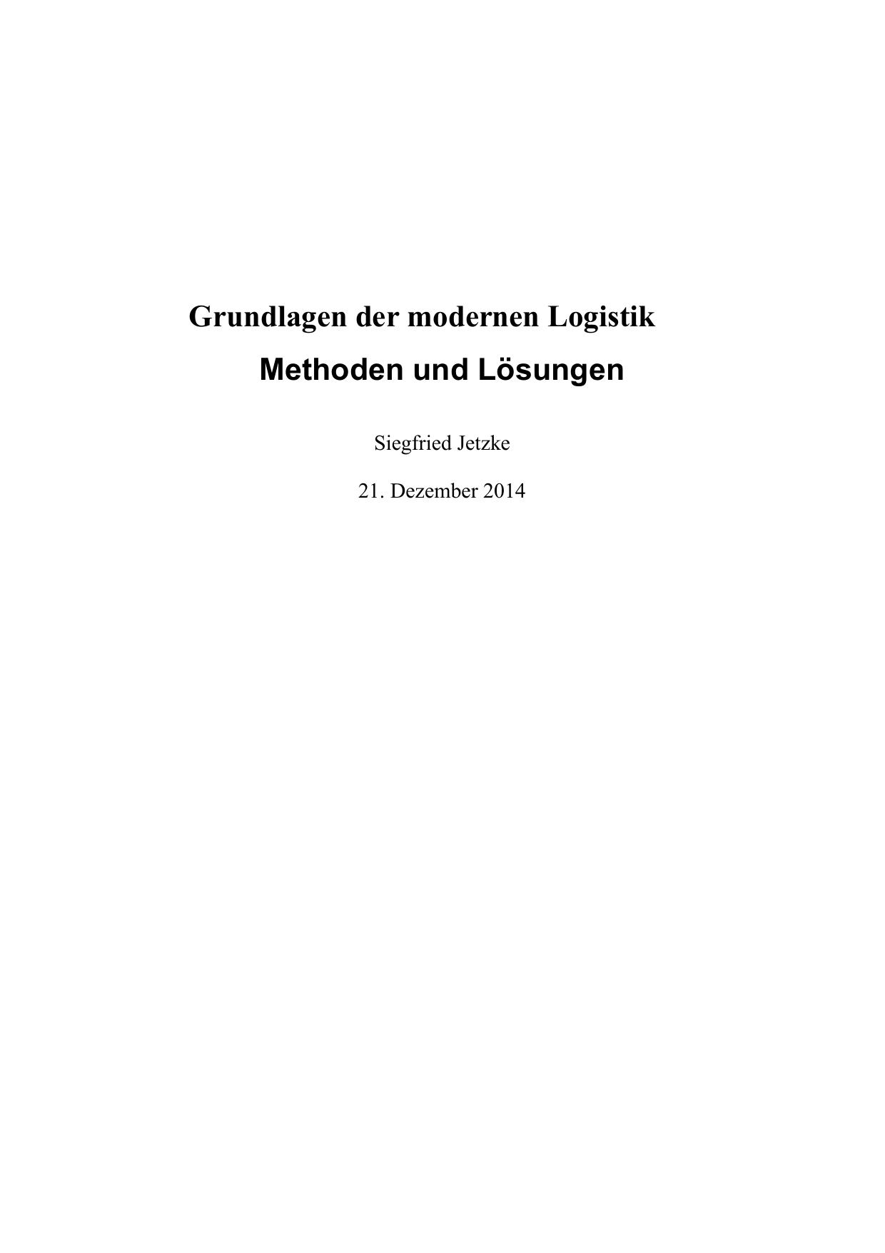 Grundlagen der modernen Logistik Methoden und | manualzz.com