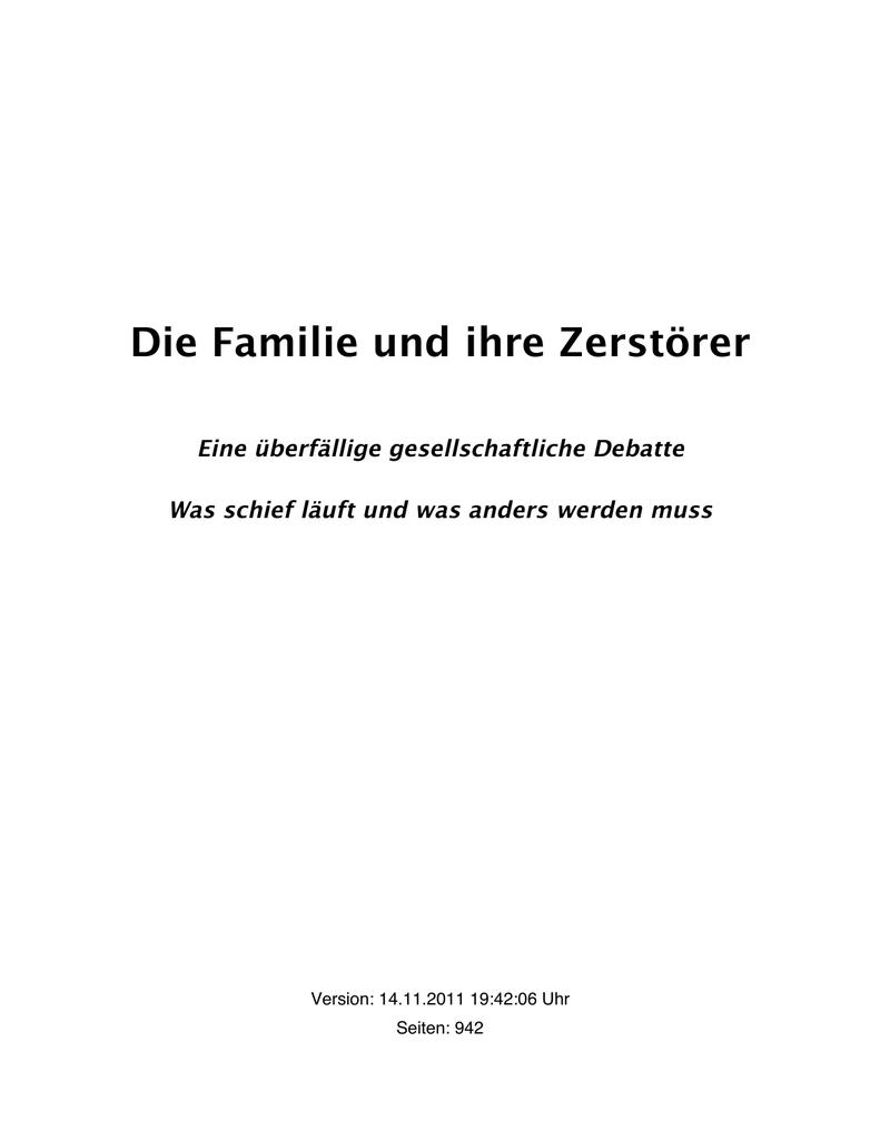 Die Familie und ihre Zerstörer | manualzz.com