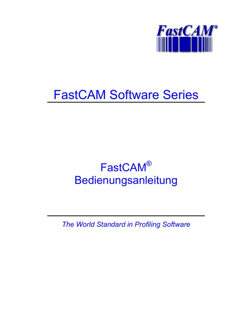 FastCAM Software Series | manualzz.com