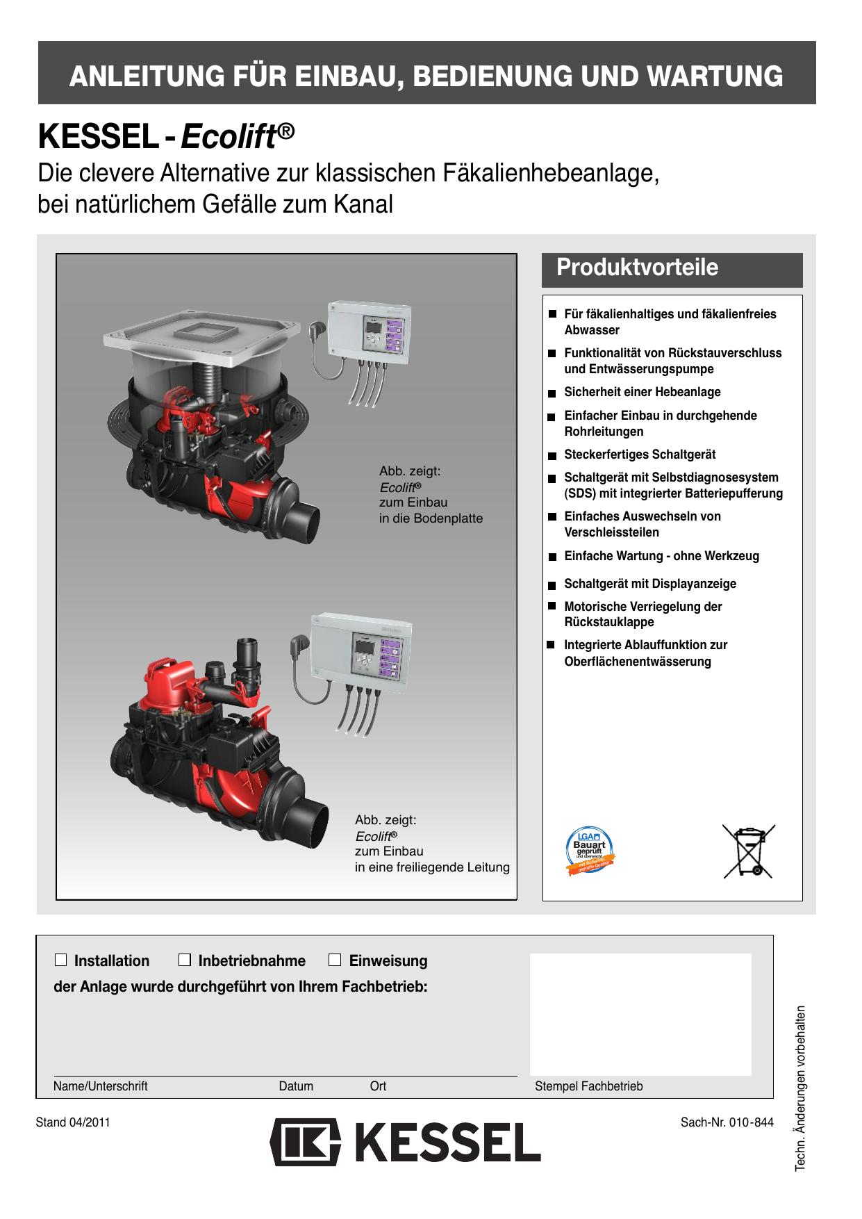 KESSEL-Ecolift®   manualzz.com