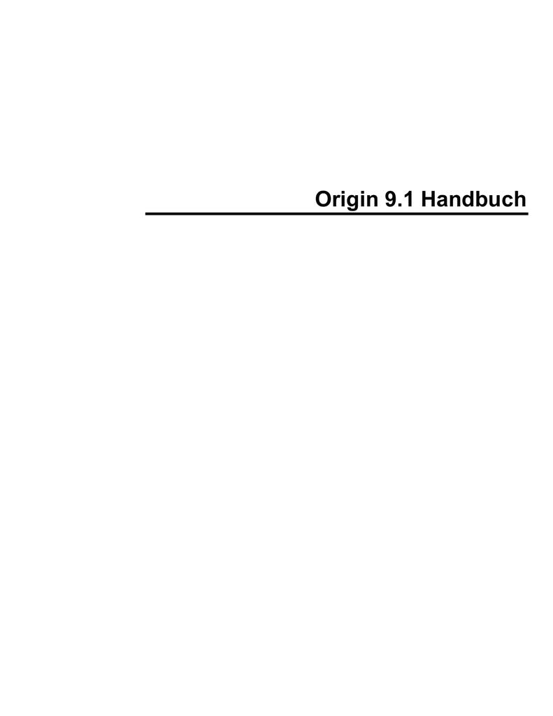 Origin 9.1 Handbuch deutsch   manualzz.com