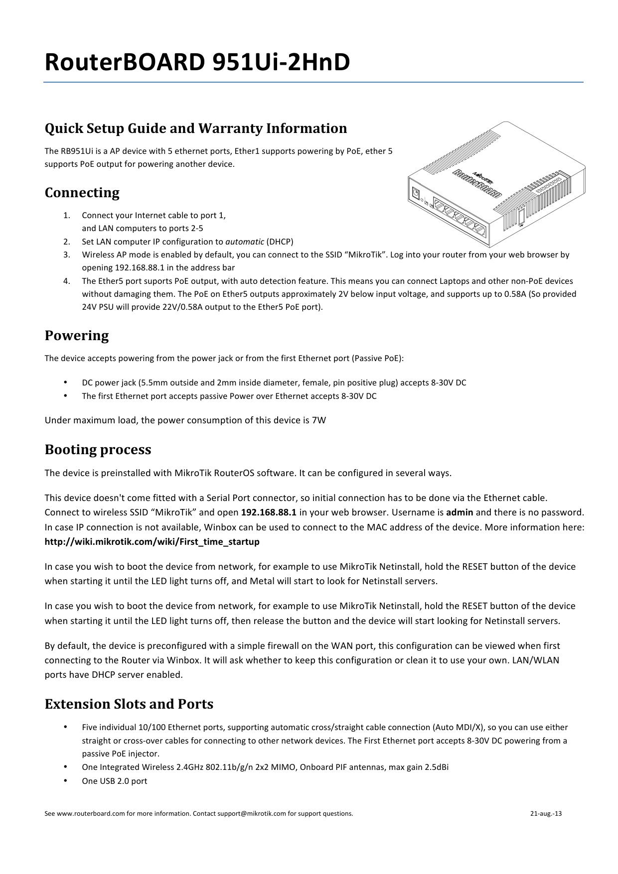 RouterBOARD 951Ui-‐2HnD   manualzz com