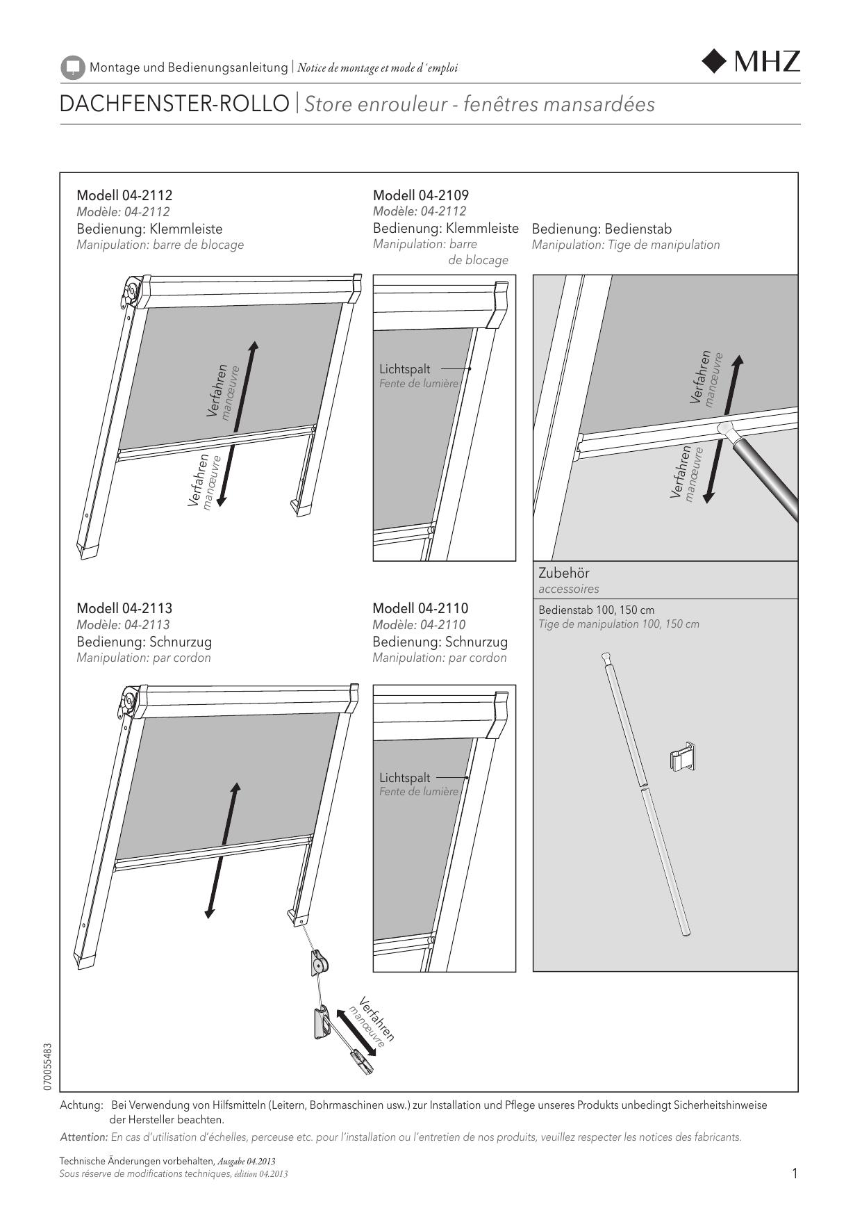 Mhz Montagenaleitung Dachfenster Rollo Für Verdunklung Und