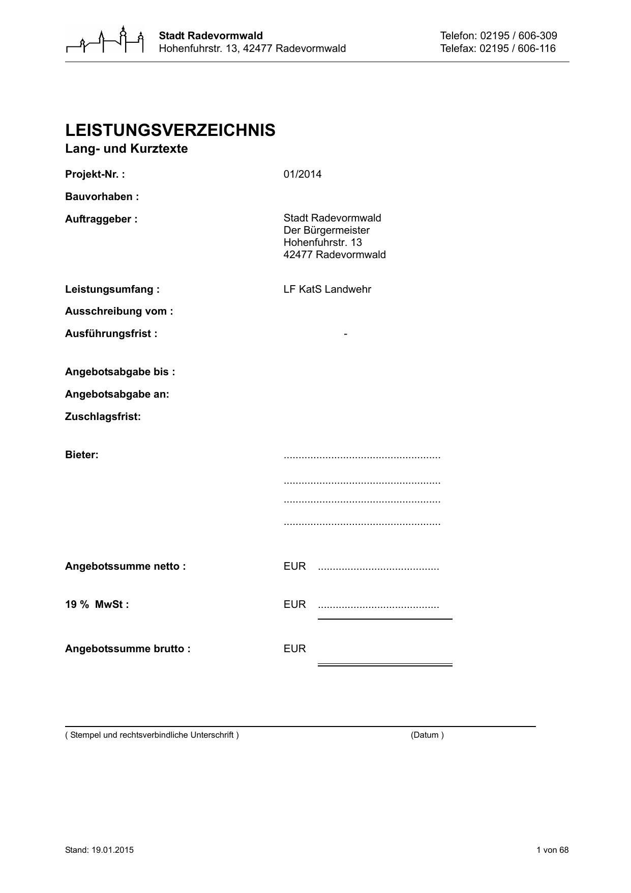 Leistungsverzeichnis   manualzz.com