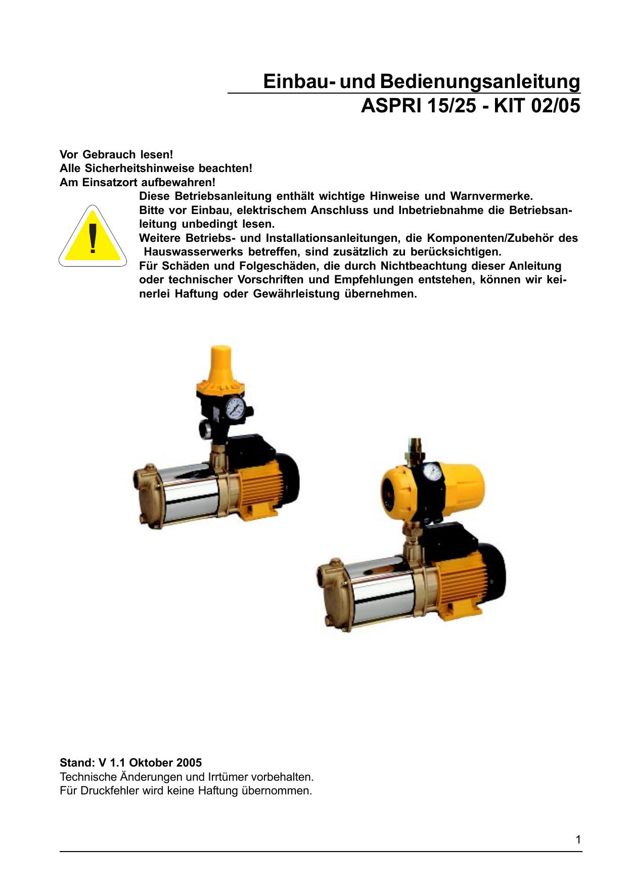 Kondensator 20µF für AL-KO Pumpen