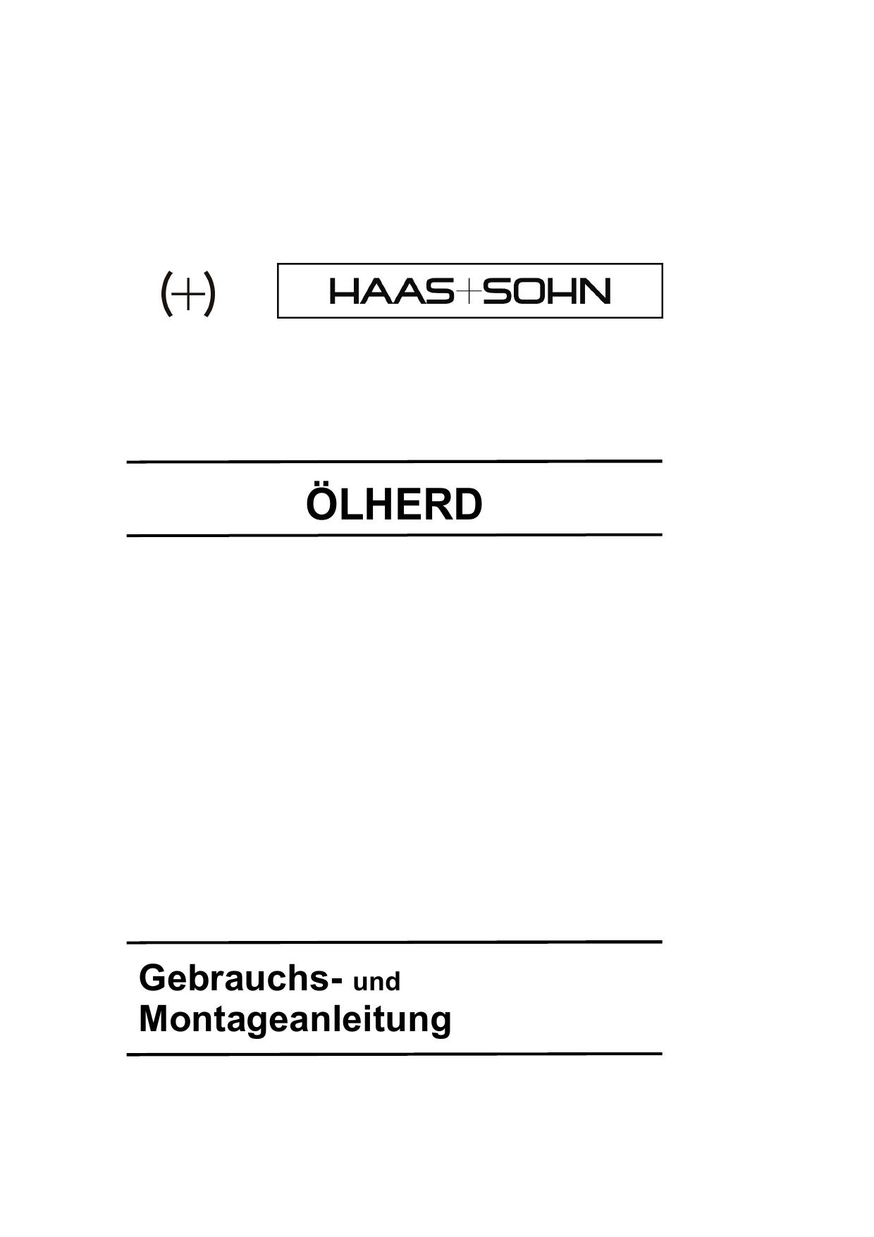ÖLHERD - Haas + Sohn | manualzz.com