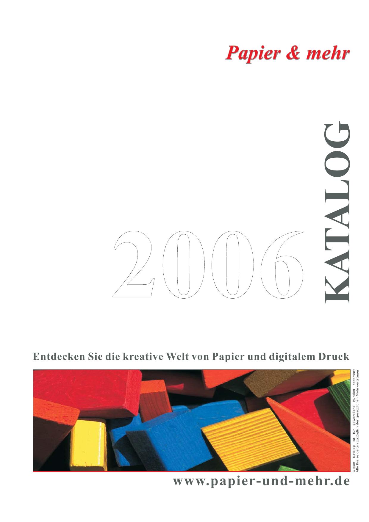Papier Mehr Katalog 01 2006 Manualzz Com