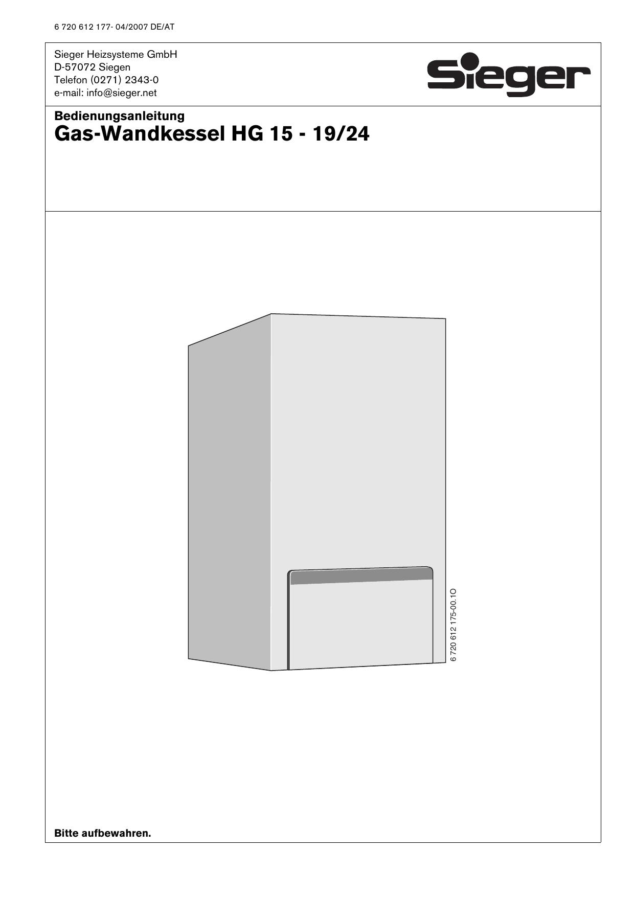 Bedienungsanleitung - Sieger Heizsysteme | manualzz.com