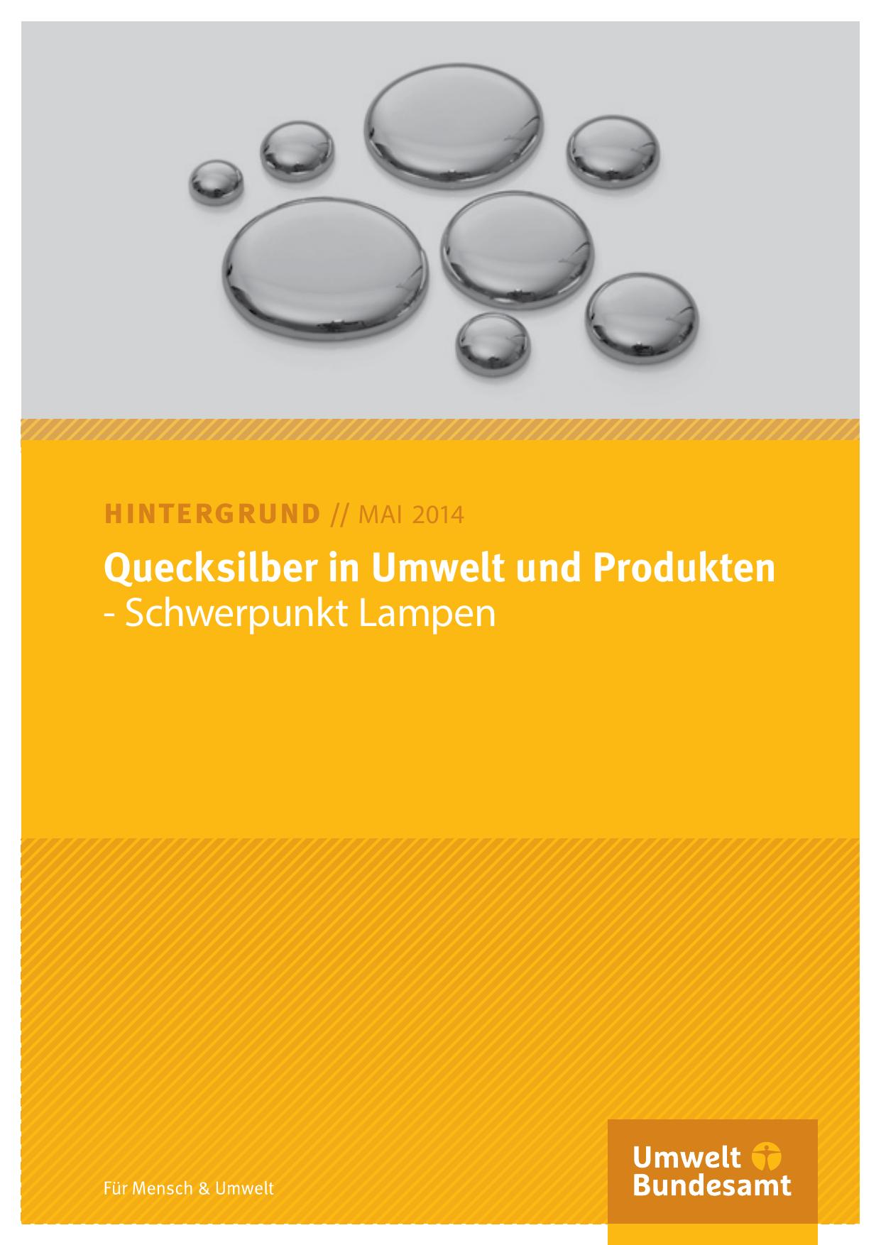 Quecksilber in Umwelt und Produkten | manualzz.com