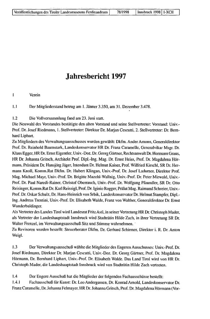 Jahresbericht 1997 - Oberösterreichisches Landesmuseum | manualzz.com