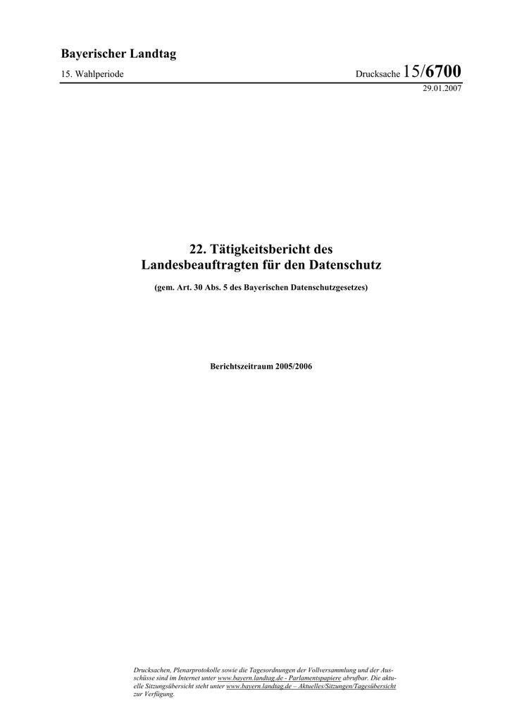 22.TB - Bayern - Datenschutzbeauftragter | manualzz.com