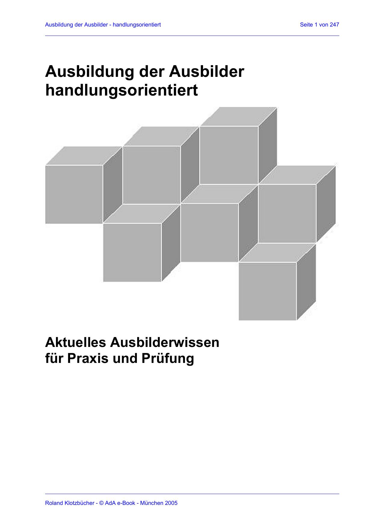 Ausbildung der Ausbilder | manualzz.com