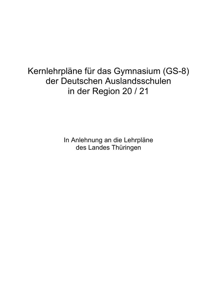 Kernlehrpläne für das Gymnasium (GS | manualzz.com