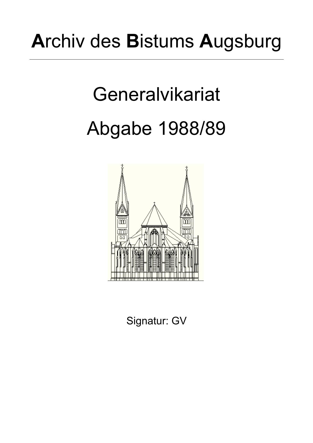 Abgabe 1988/89 - Bistum Augsburg | manualzz.com