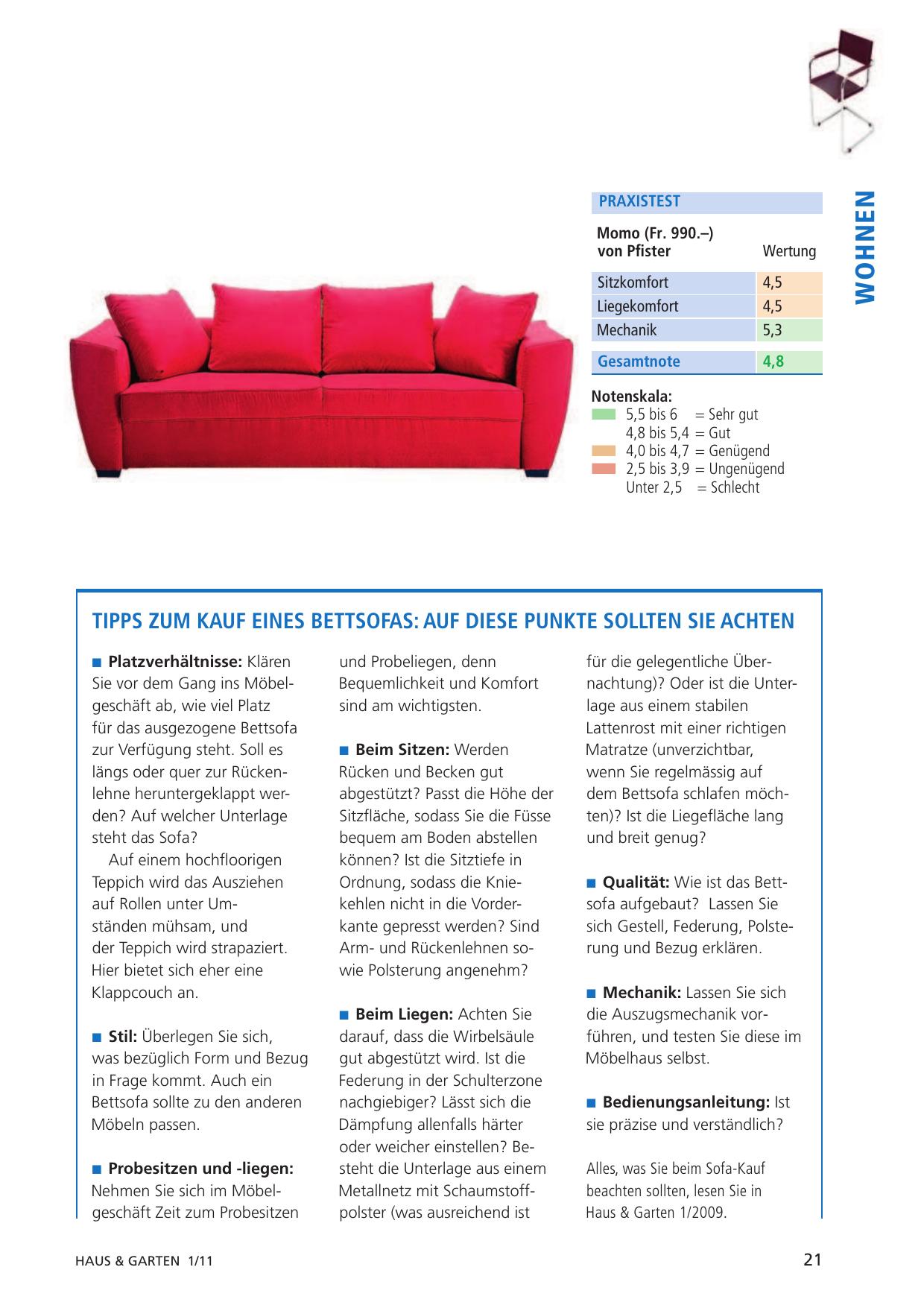 K Tipp März 2011 Testsieger Swiss Plus Bed For Living Manualzzcom
