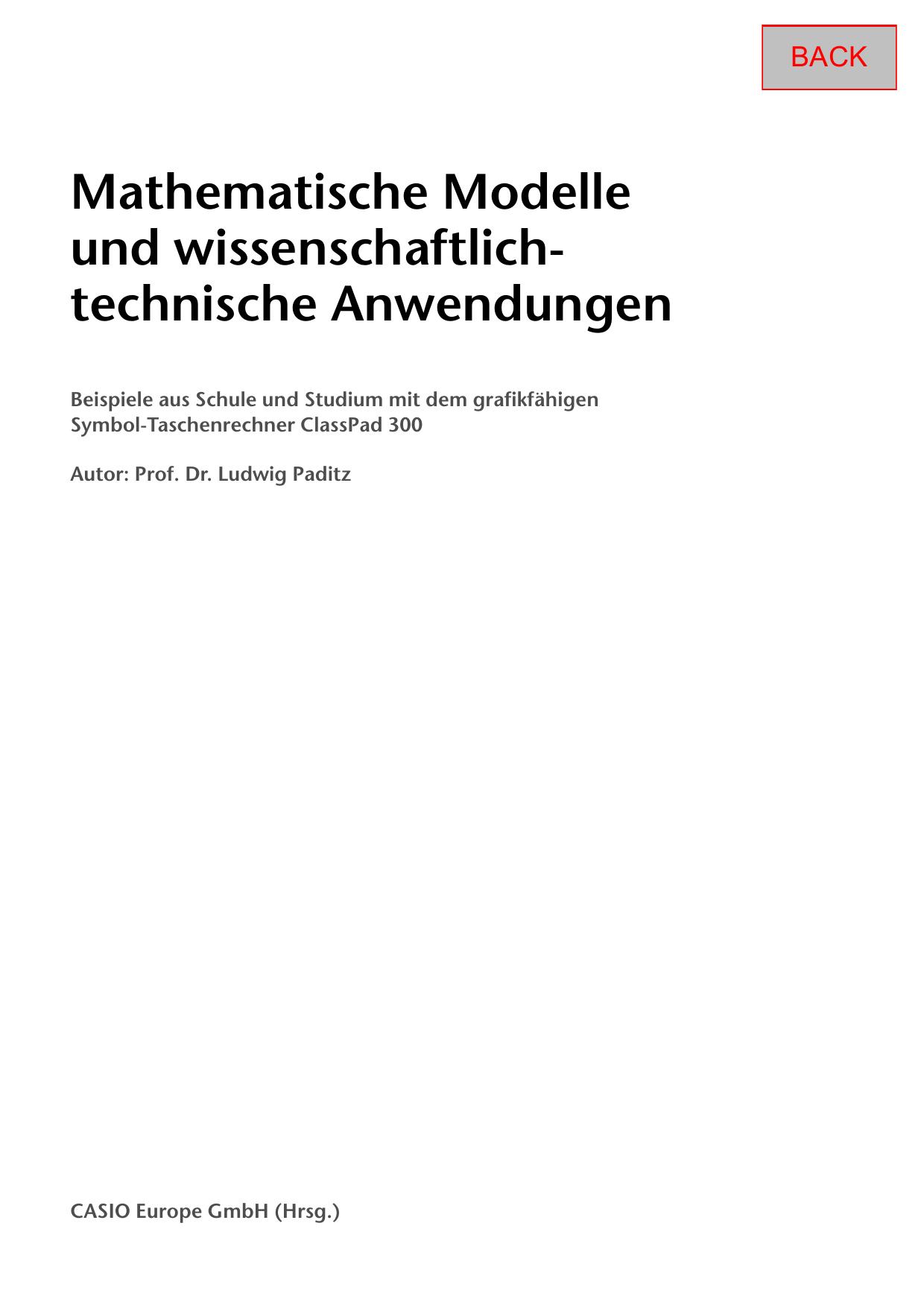 Mathematische Modelle und wissenschaftlich | manualzz.com