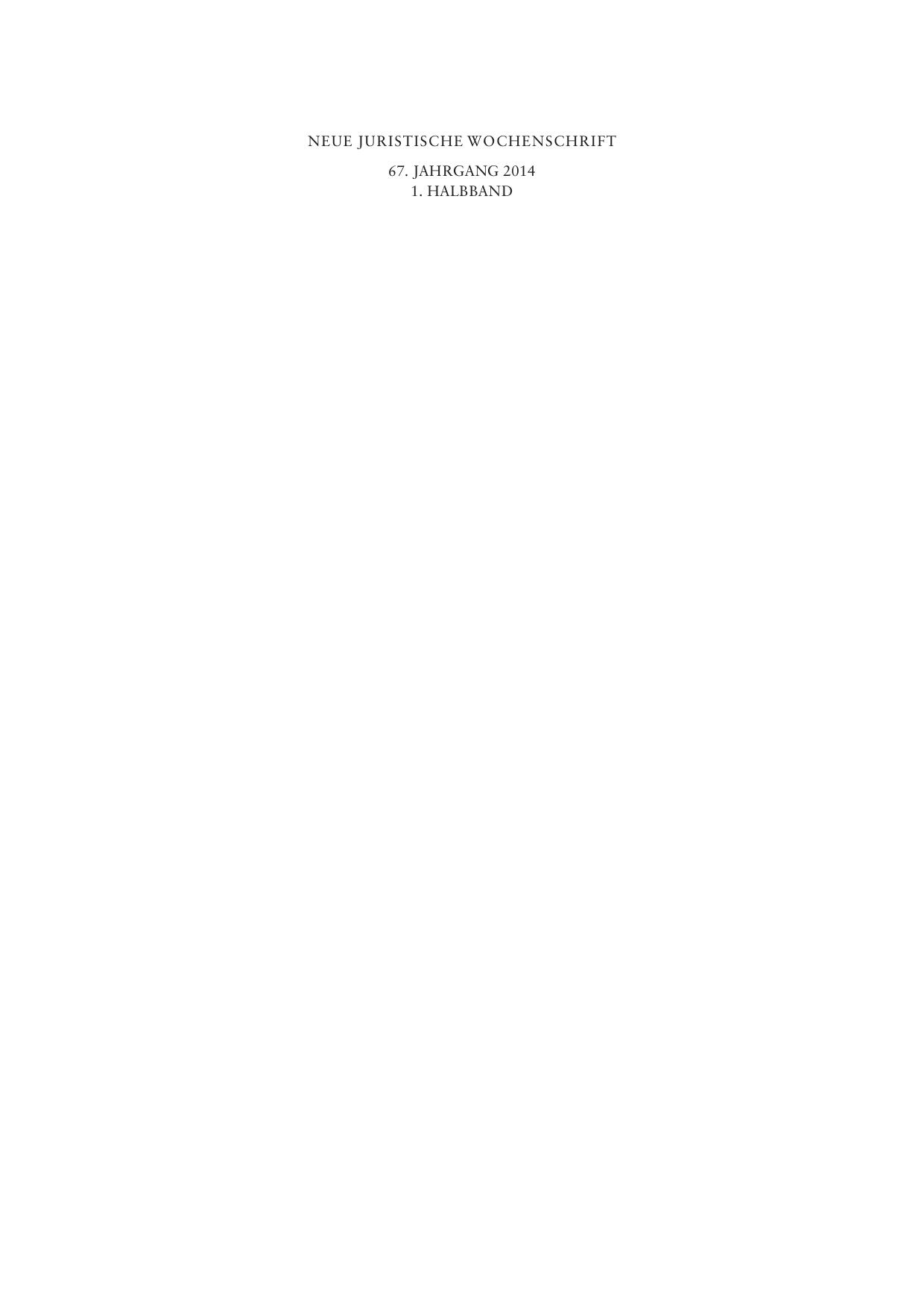 NJW-Halbjahres-Register I 2014 - beck | manualzz.com