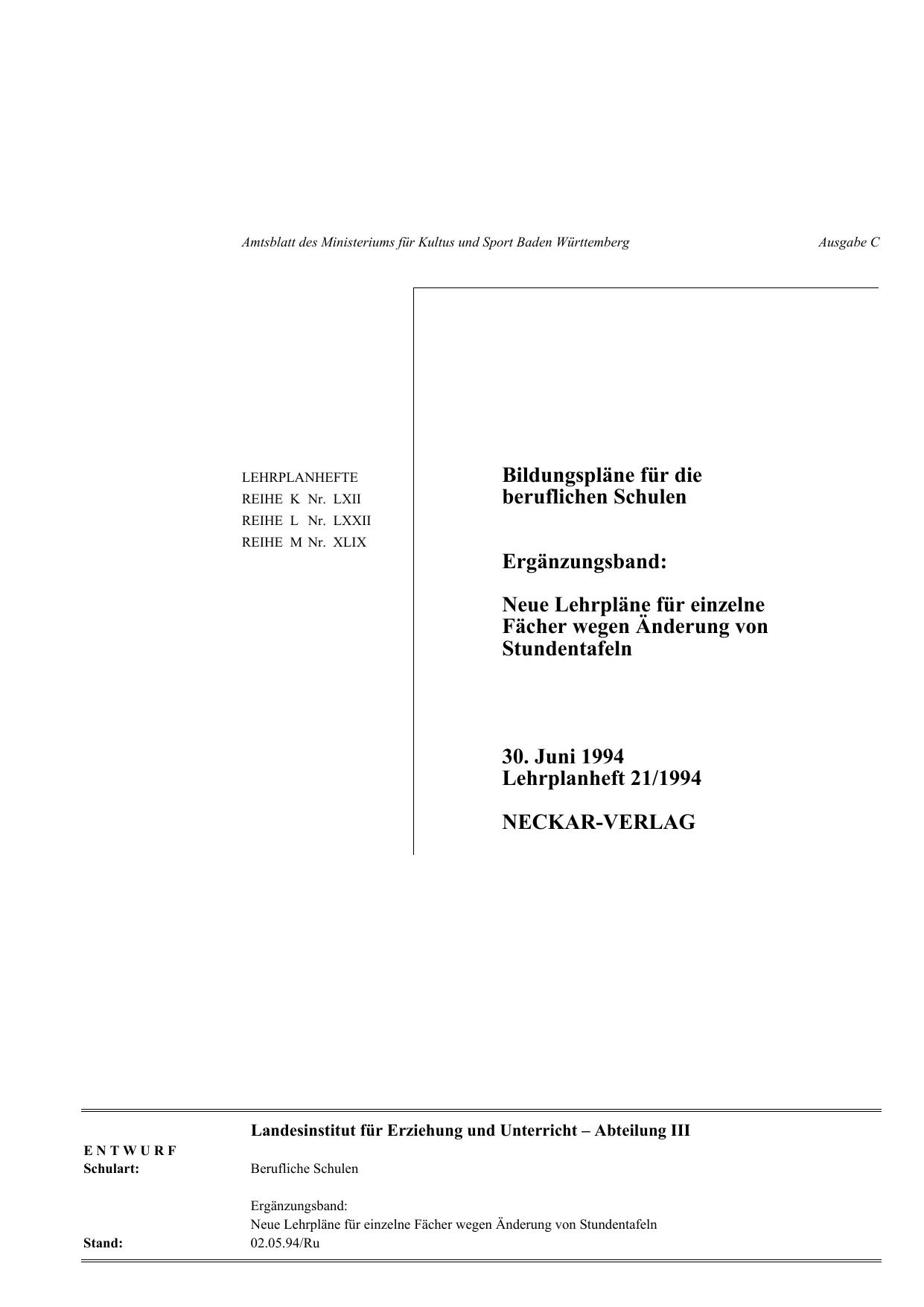 Alle-Schulen_Ergaenzungsband_LPH-21-1994 | manualzz.com