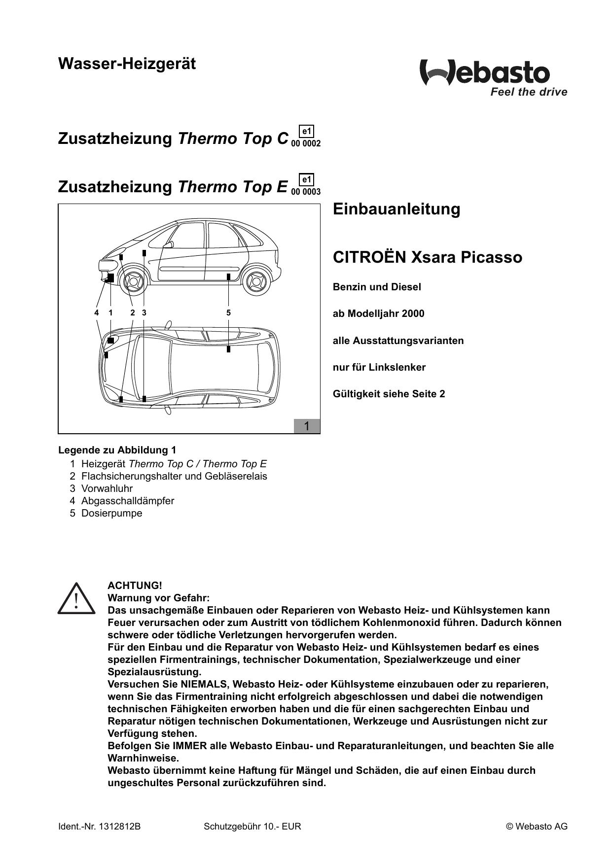 Schaltplan Citroen Xsara