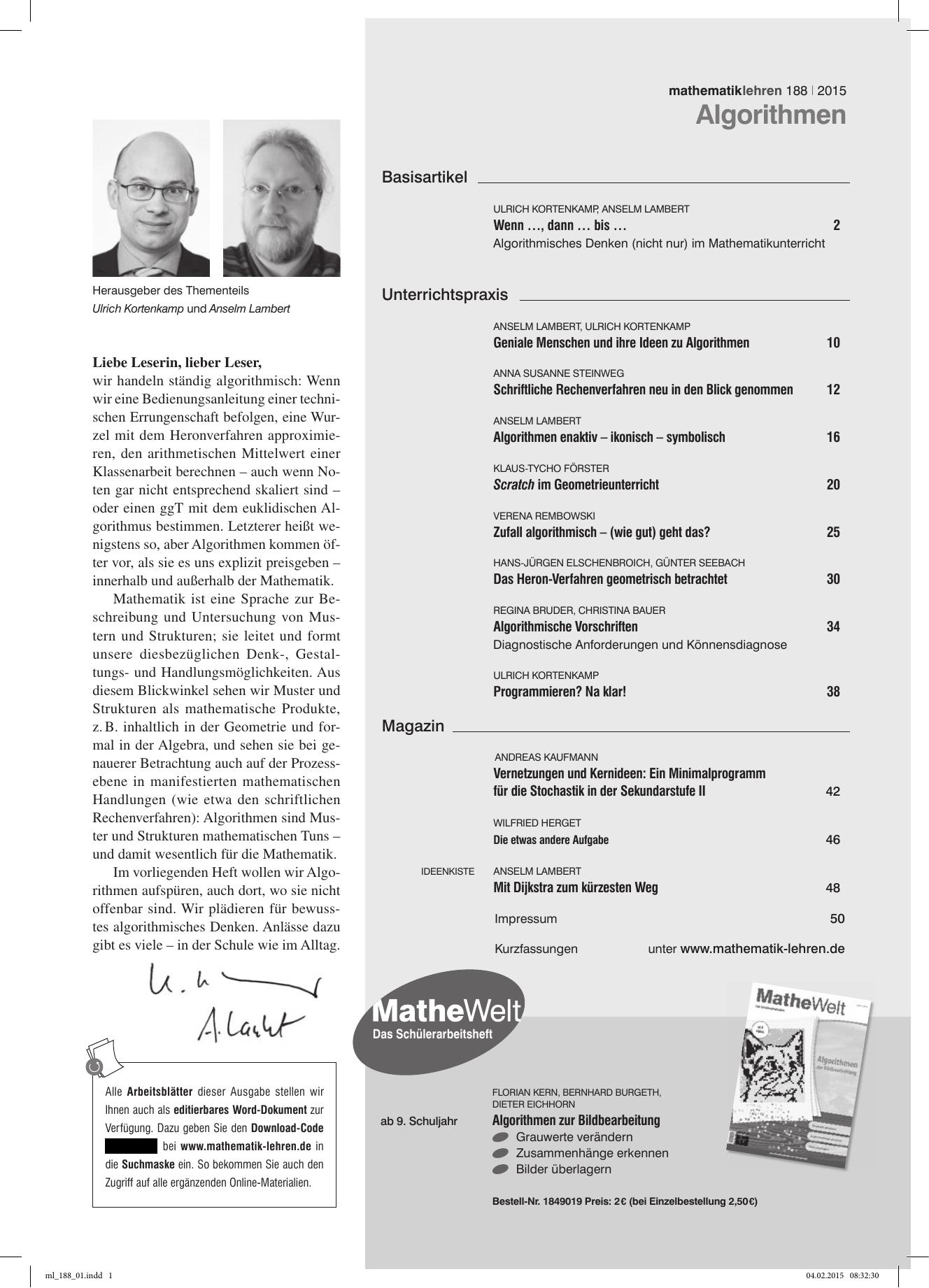 Algorithmen - Friedrich Verlag   manualzz.com