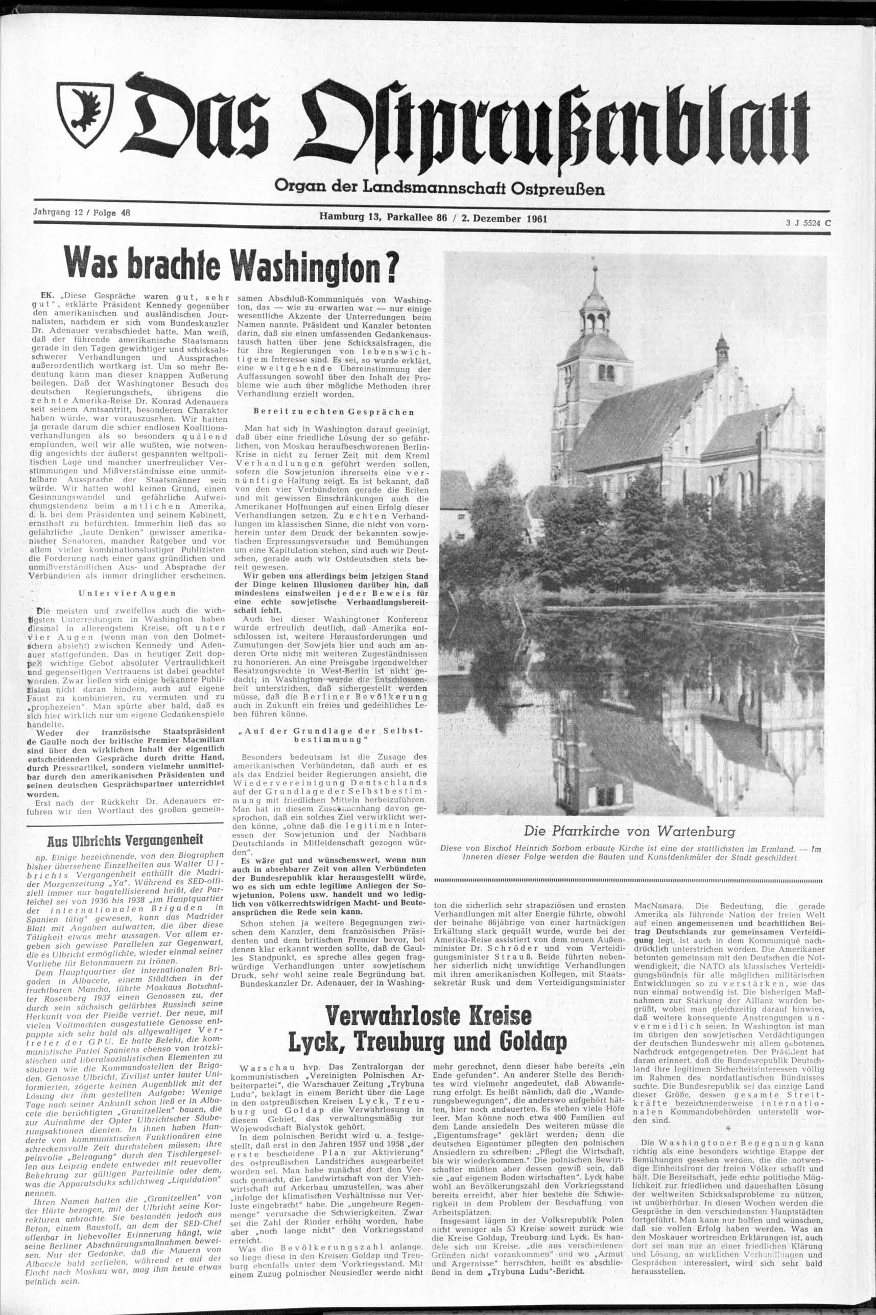 Was Brachte Washington Verwahrloste Kreise Lyck Treuburg