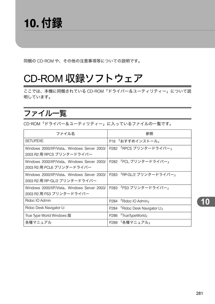 InfoPrint SP 8200 ソフトウェアガイド(10. 付録)   Manualzz