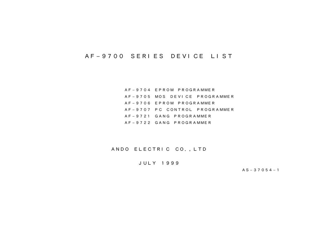 DRIVERS: AF-9704 ANDO