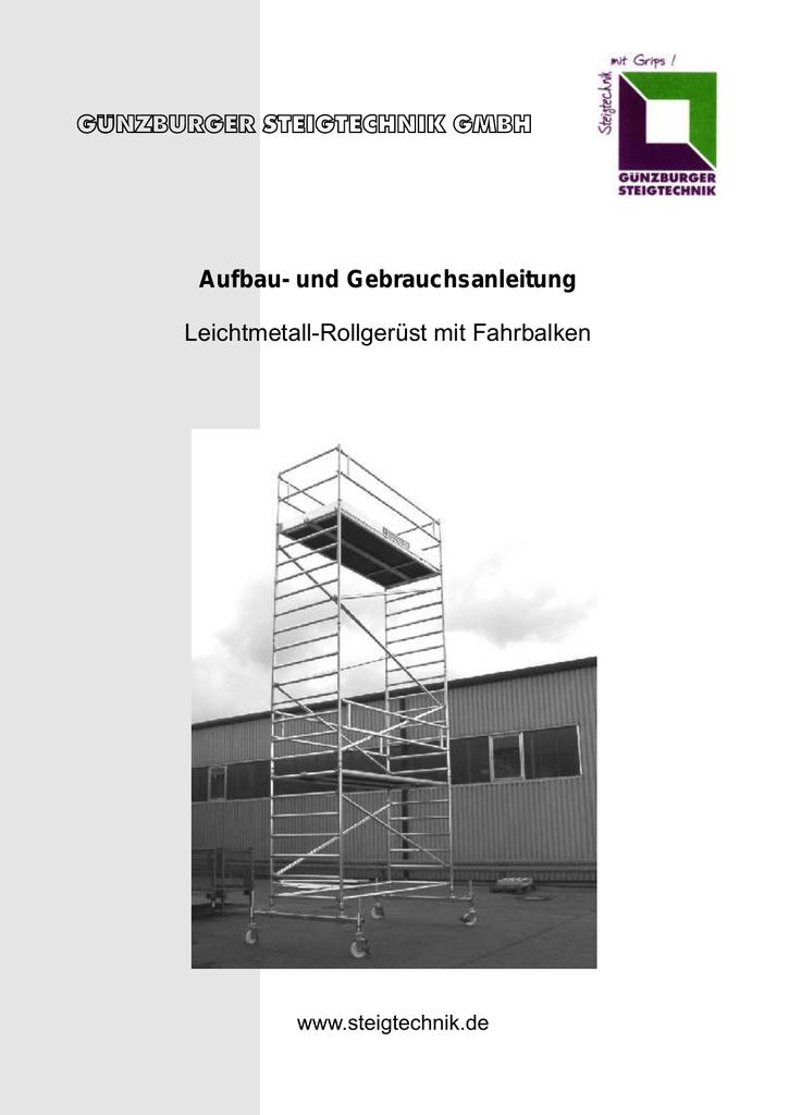 Aufsteckrahmen f/ür Ger/üstgr/ö/ße 0,75 m H/öhe ca m 1,00 m
