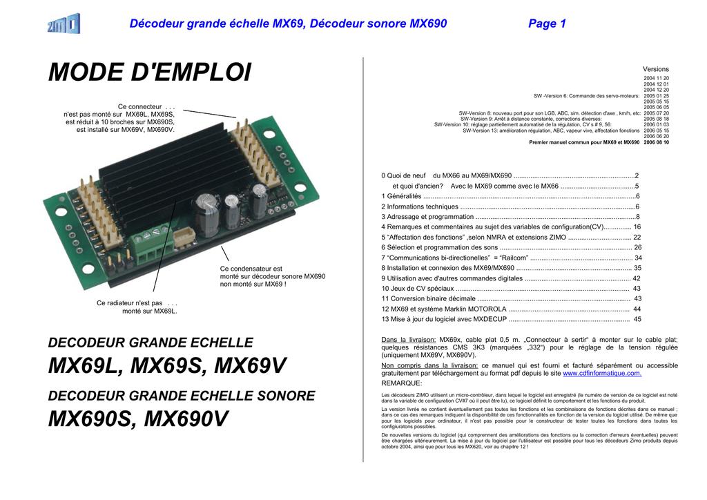 DEL-Décodeur 10 sorties éteignent DCC-DIGITAL SIGNAL
