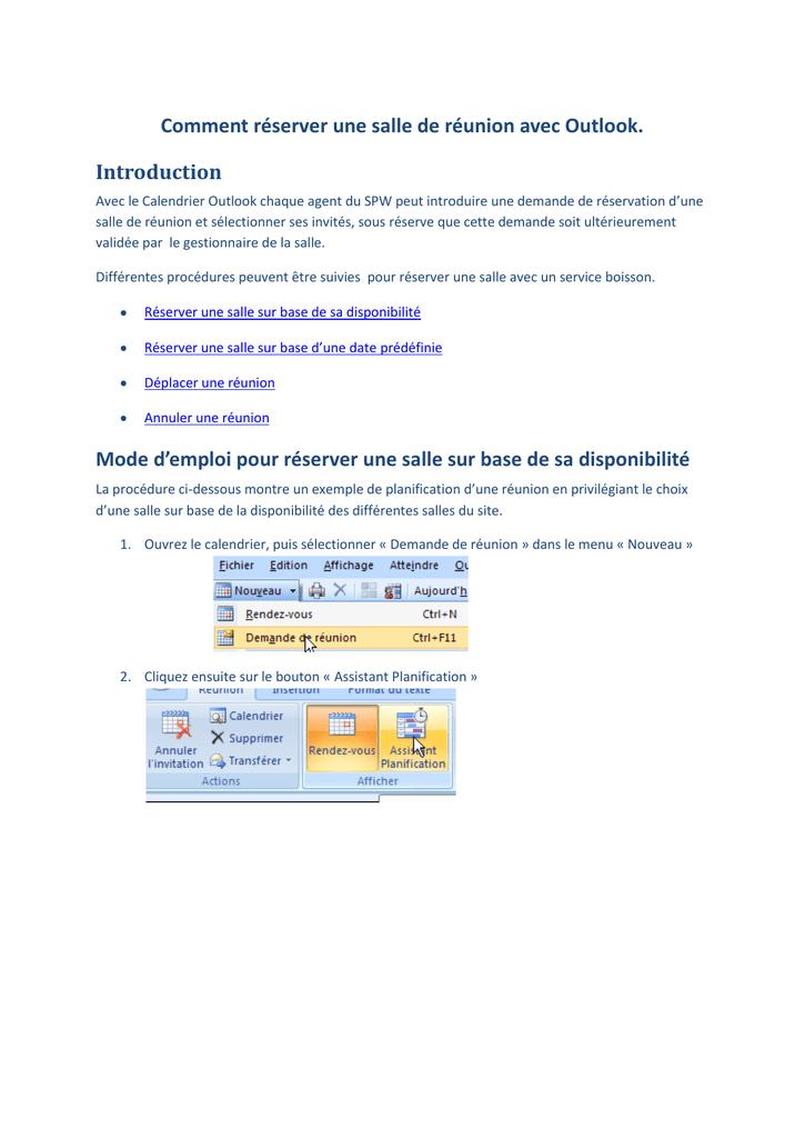 Supprimer Calendrier Outlook.Comment Reserver Une Salle De Reunion Avec Outlook