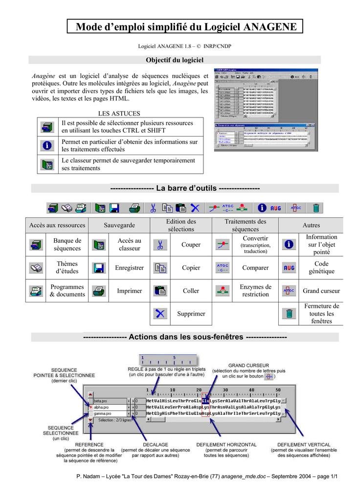 logiciel anagène 1