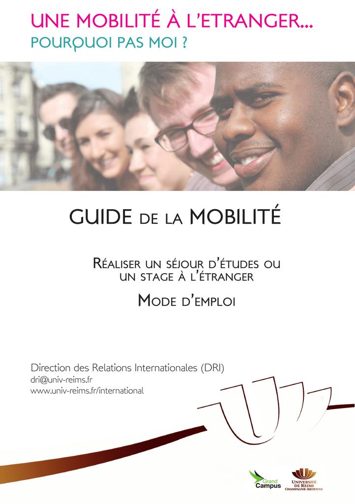 Guide De La Mobilite Université De Reims Champagne