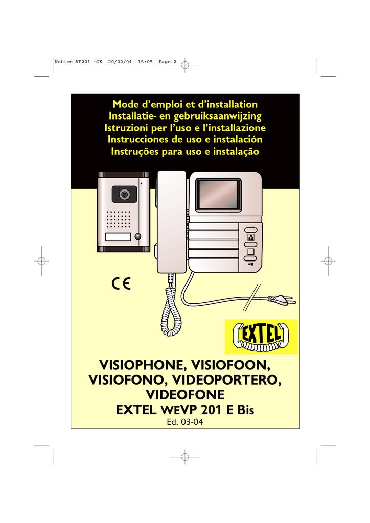 visiophone extel fabulous extel ecran cm with visiophone extel great extel lm lm users guide. Black Bedroom Furniture Sets. Home Design Ideas