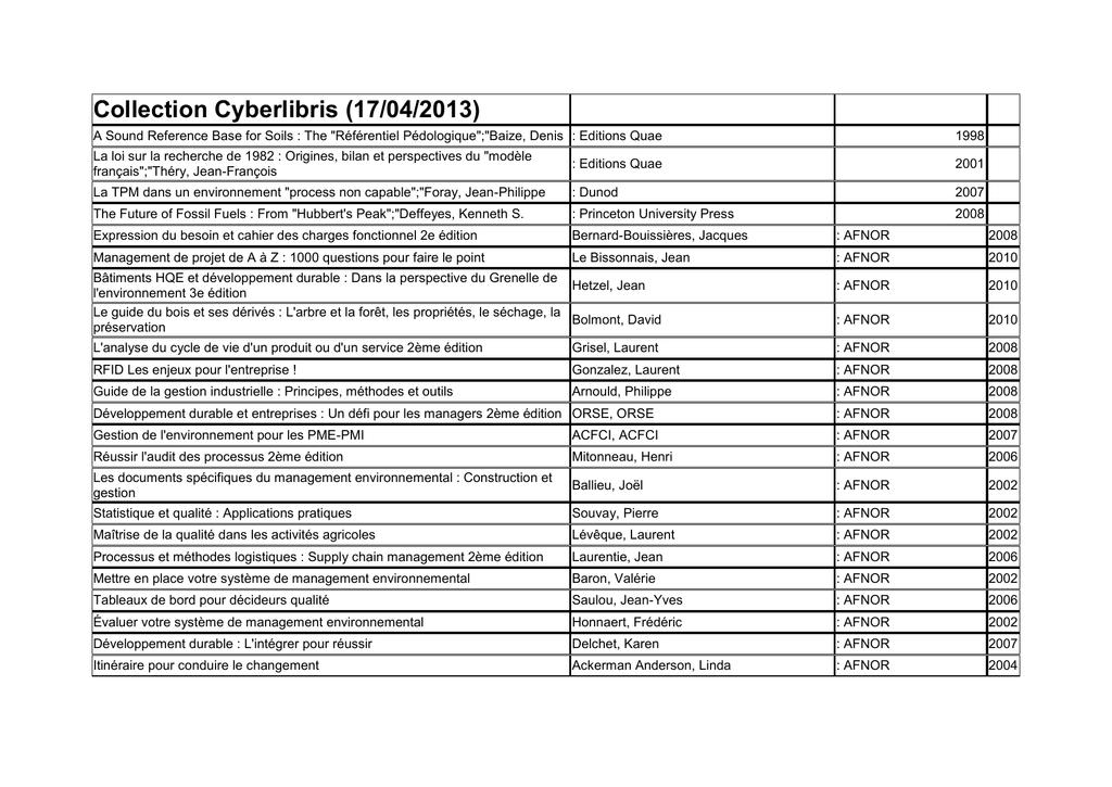 Collection Cyberlibris Service Commun De La Documentation Manualzz