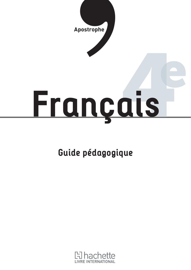 Guide Pedagogique Hachette Livre International Manualzz Com