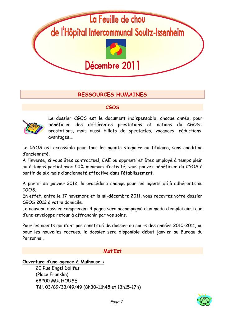 2011 A DOSSIER CGOS TÉLÉCHARGER