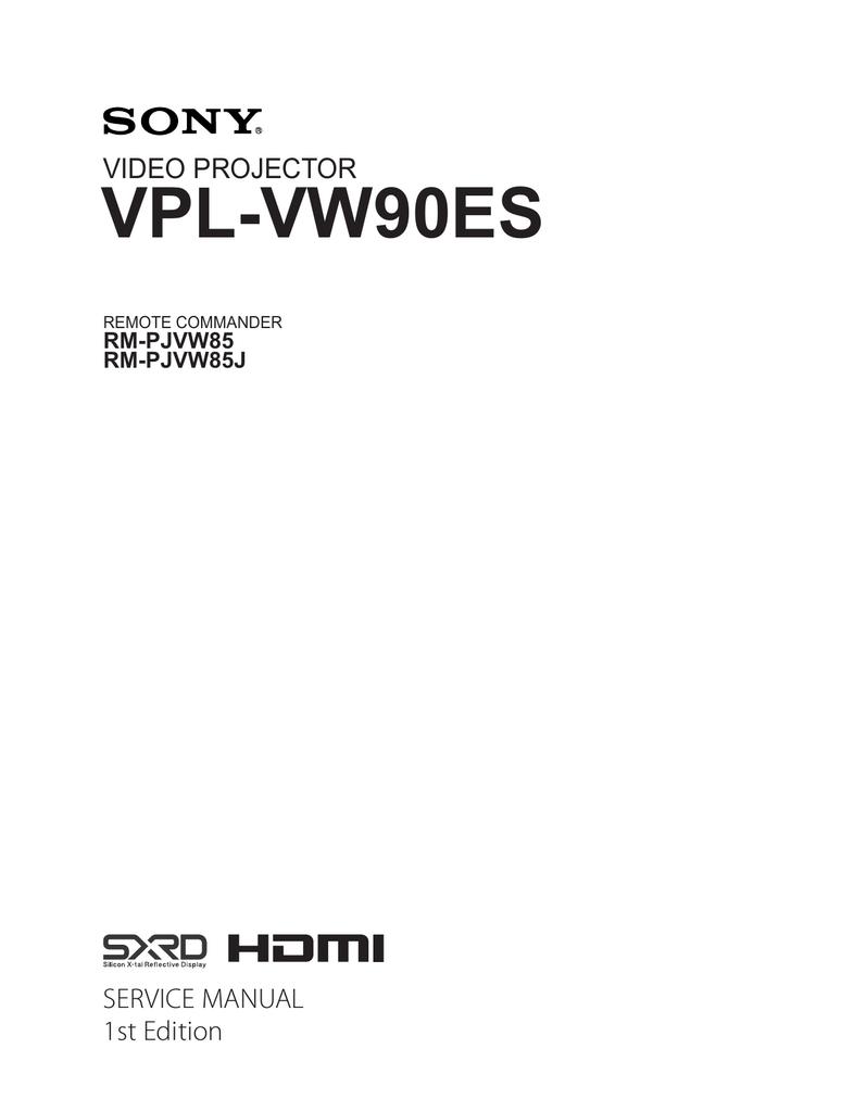 VPL-VW90ES Service Manual   manualzz com