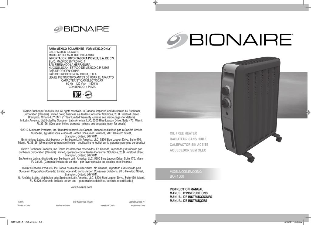 Sunbeam SOF1000-CN Oil Filled Radiator