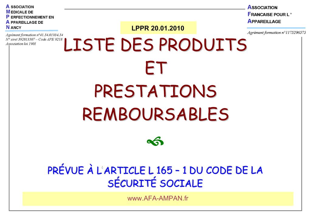 9b400d6f9a LISTE DES PRODUITS ET PRESTATIONS REMBOURSABLES | manualzz.com