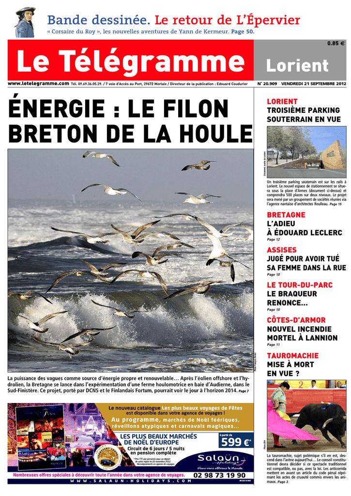 énergie Le Filon Breton De La Houle Manualzzcom