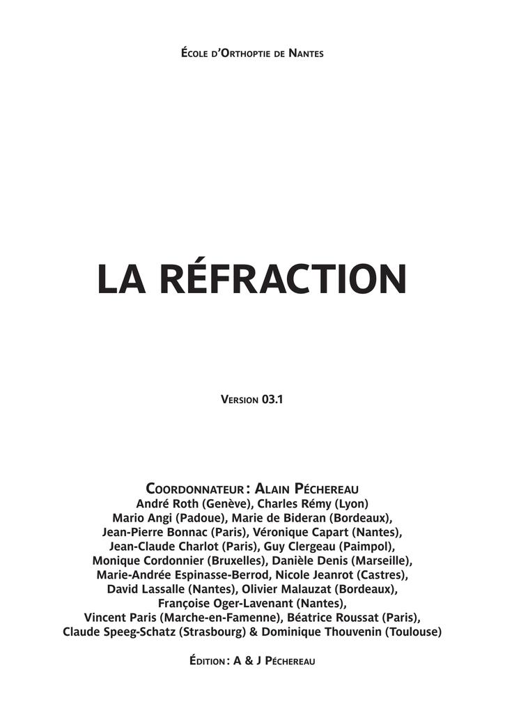 LA RÉFRACTION - Réfraction œil   manualzz.com 47a483847623