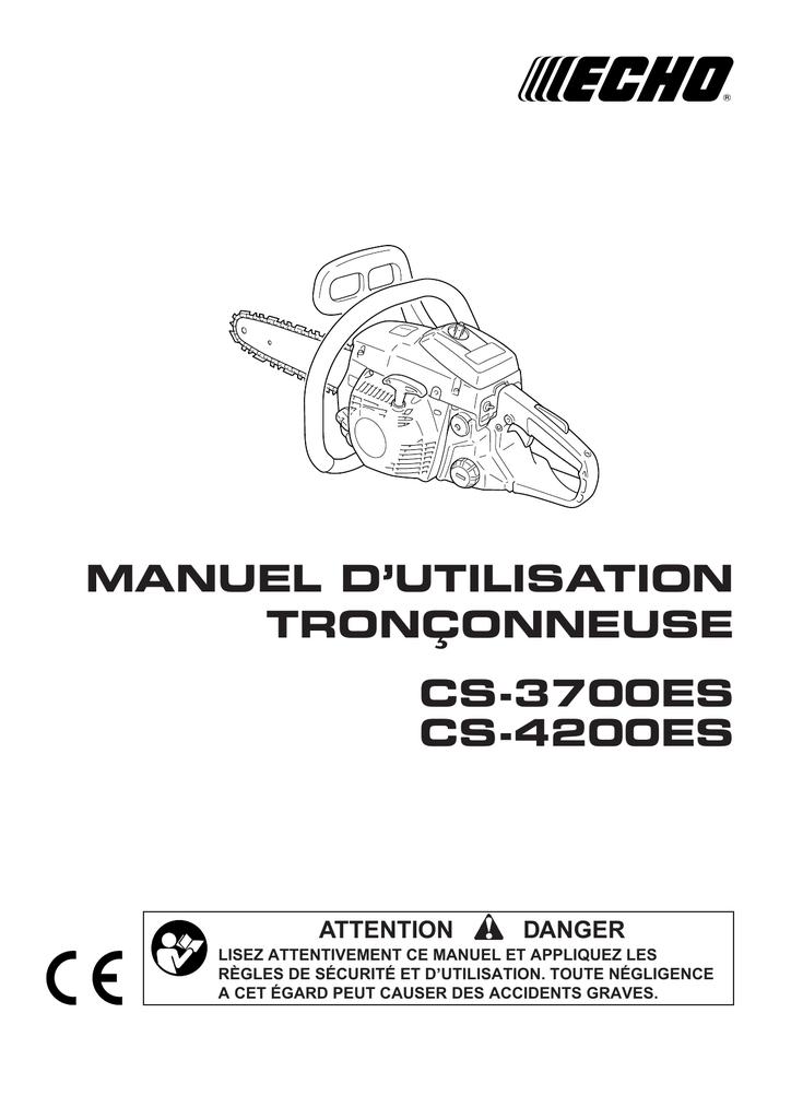 Manuel Dutilisation Tronçonneuse Cs 3700es Manualzzcom