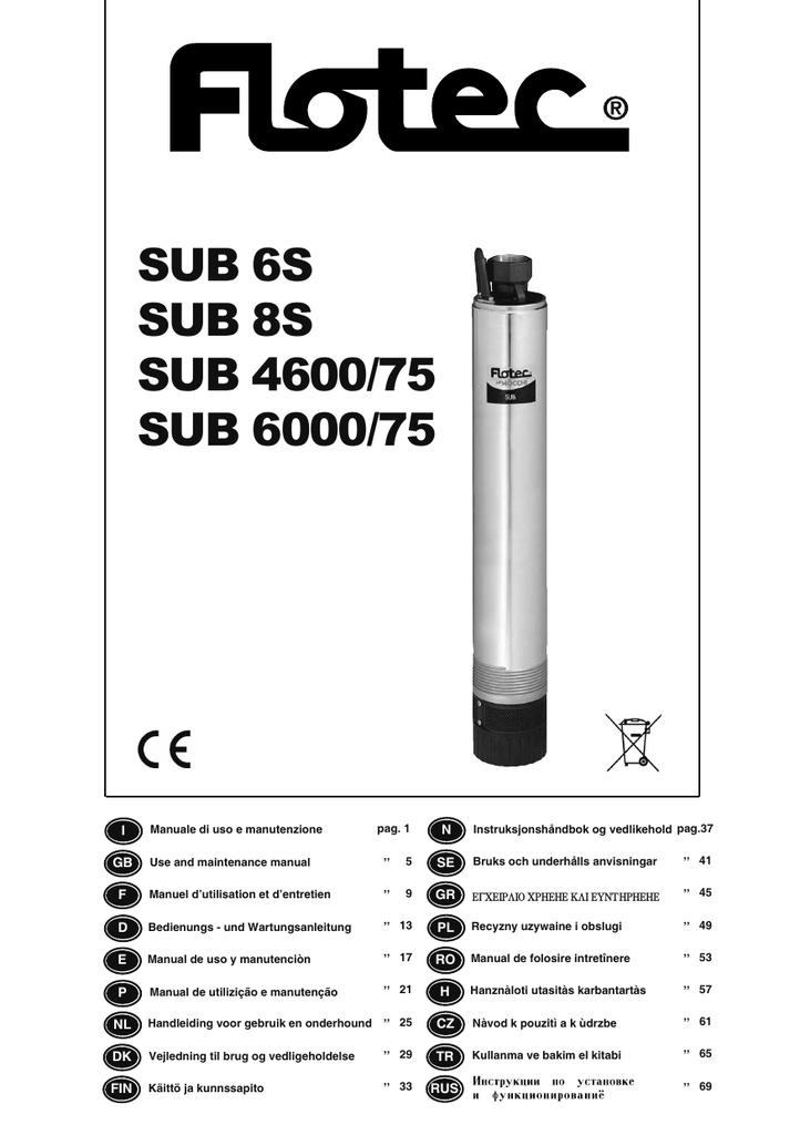 Sub 6s Sub 8s Sub 460075 Sub 600075 Manualzzcom
