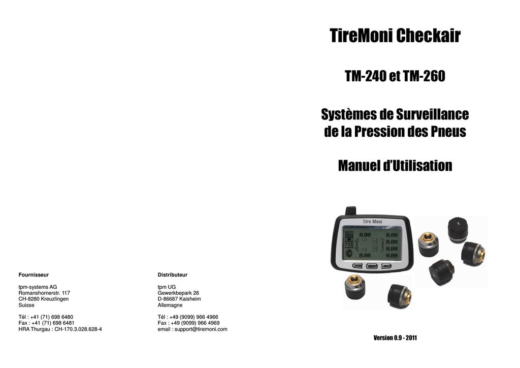 TireMoni TM-260 Manual FR V0.9 110209   manualzz.com 226fdcac43ba