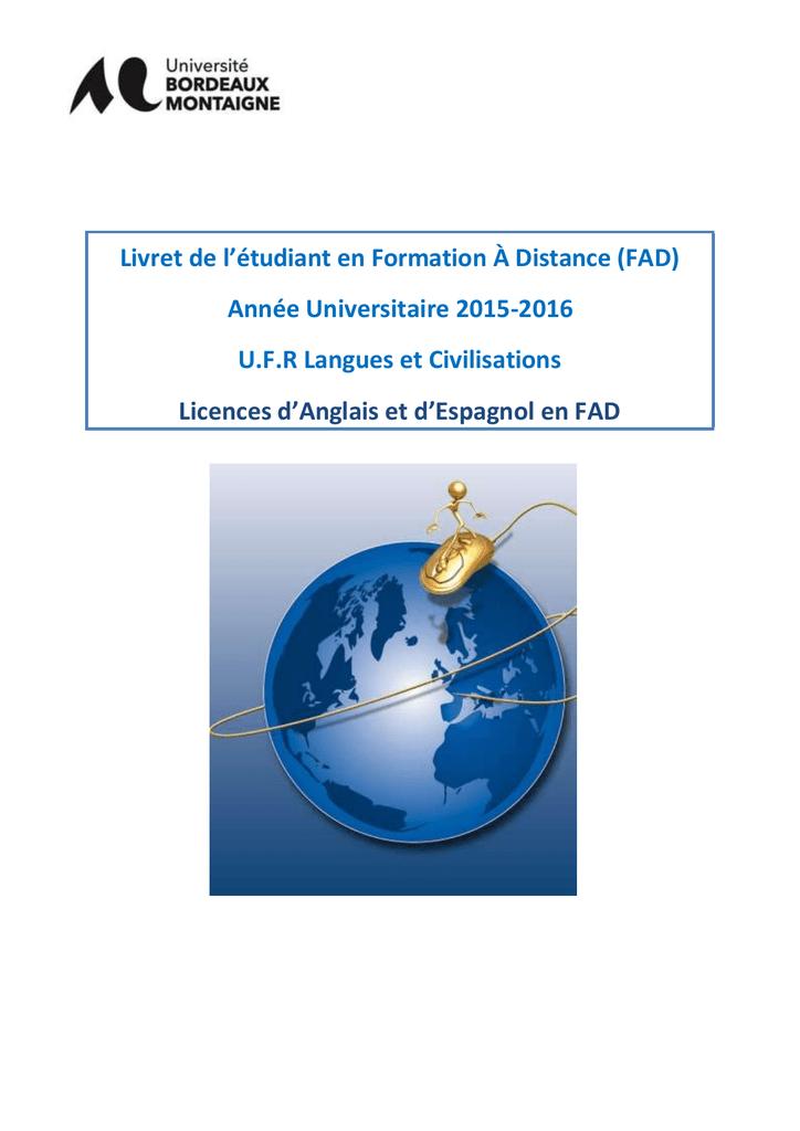 Calendrier Examens Bordeaux Montaigne.Licences Anglais Espagnol Universite Bordeaux Montaigne